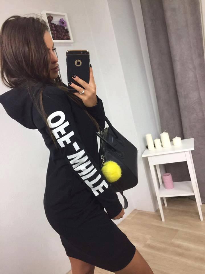 f2161e45d271 Športové šaty s kapucňou čierne