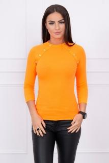 0aaf5f4e1400 Dámske tričko s ozdobnými gombičkami neon pomaranč empty