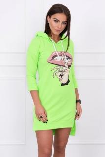 89b5c78a0d9a Neonové zelené športové šaty s potlačou empty