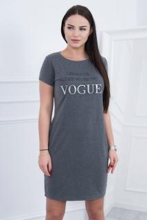 1be4d36657d9 Šaty Vogue grafitové empty
