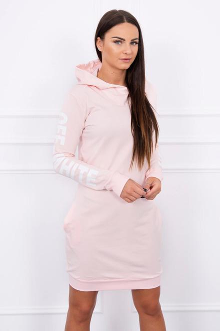 ... kapucňou ružové športové šaty 73003abc69a